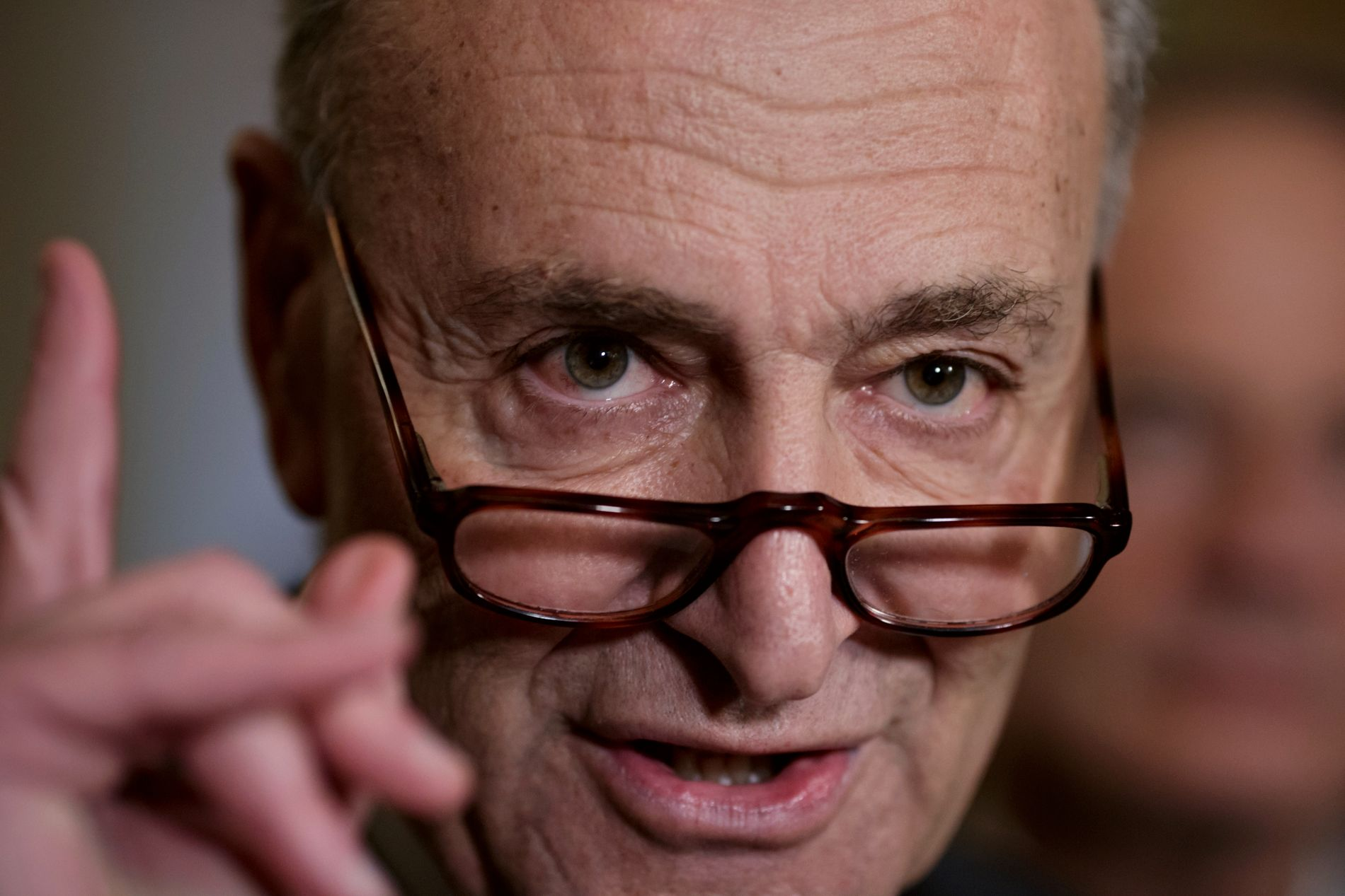 REAGERER: Demokratenes leder i Senatet, Charles Schumer.