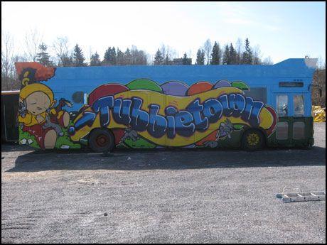 RUSSEBUSS: Slik ser Tubbietown-bussen ut. Foto: SONDRE HOLVIK