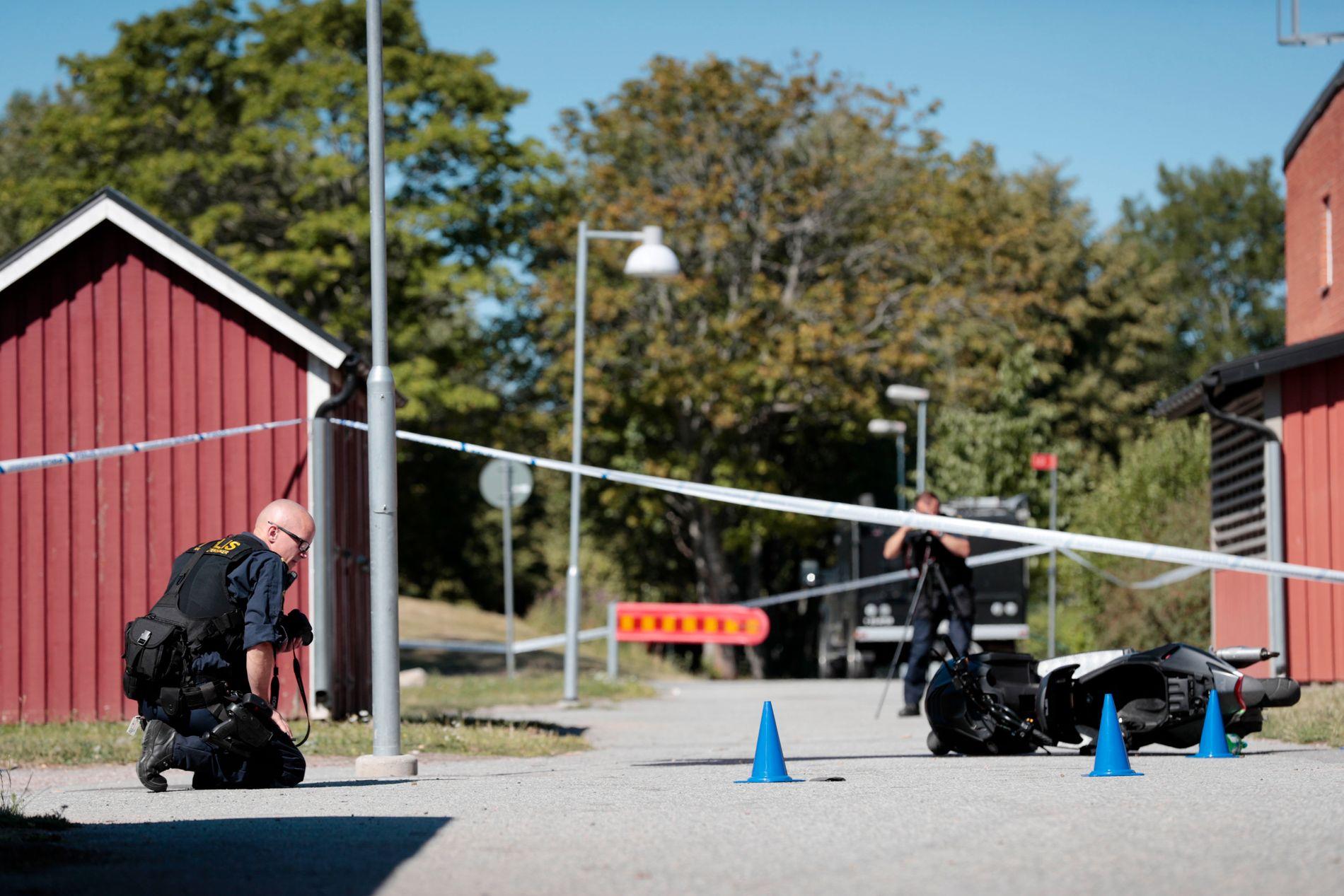 ÅSTEDET: To menn ble drept i et boligfelt i Örebro-bydelen Vivall tirsdag kveld forrige uke. Nå kobles en tidligere IS-kriger til drapene, ifølge SVT.