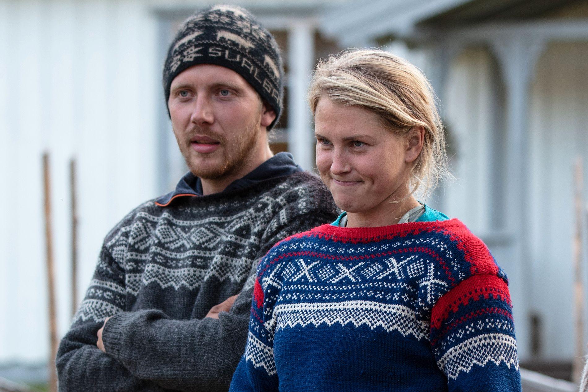 KRANGLER: Kjetil Nørstebø og Tonje Frøystad Garvik før årets finale, der hun gikk seirende ut.