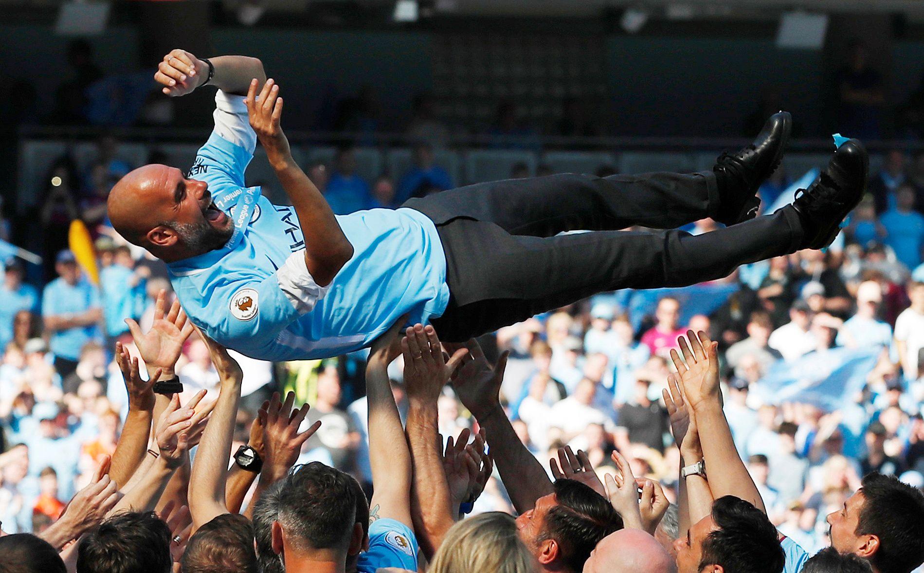 SUVEREN I SERIEN: Pep Guardiolas Manchester City har feid gjennom Premier League i suveren stil. Er der dermed en selvfølge at spanjolen er årets manager?
