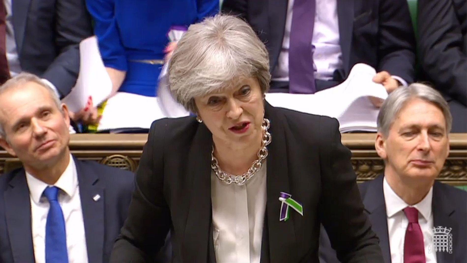 SNUR: Theresa Mays visestatsminister David Lidington ( t.v) sa fredag at fristen for å forhandle ferdig med EU kan bli utsatt til november.