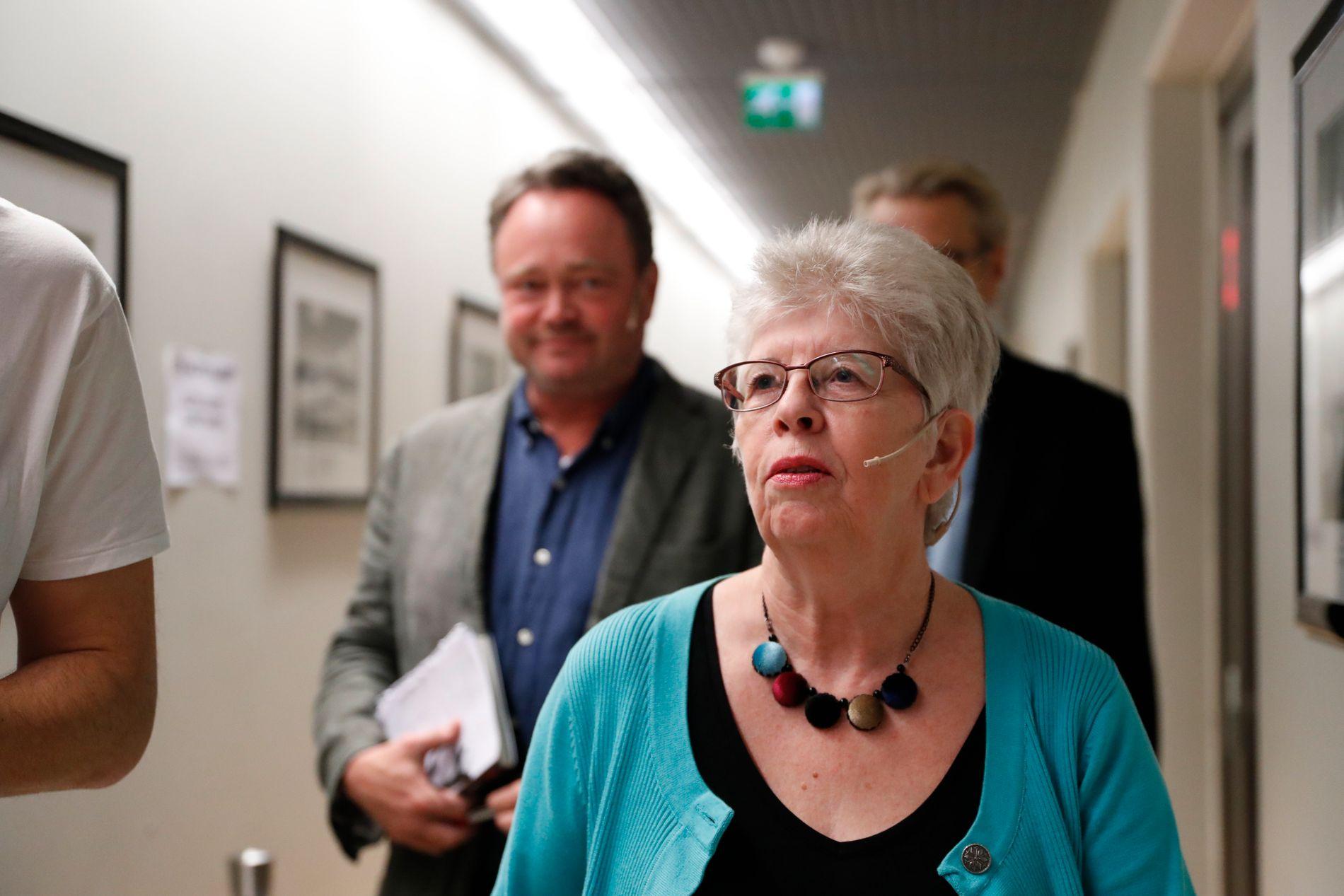 MAMMAS KAMP: Kari Hilde French fortalte torsdag om sin kamp for sin dødsdømte sønn på Litteraturhuset i Fredrikstad. Foto: Torstein Bøe / NTB scanpix