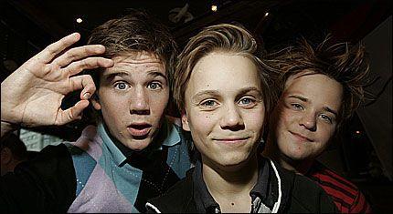 GIR SEG: Ole Martin Wølner, Ola Isaac Høgåsen Mæhlen og Robert Opsahl er ferdige som Olsebanden jr. etter den kommende filmen «Sølvgruvens hemmelighet». Foto: Scanpix/Terje Bendiksby