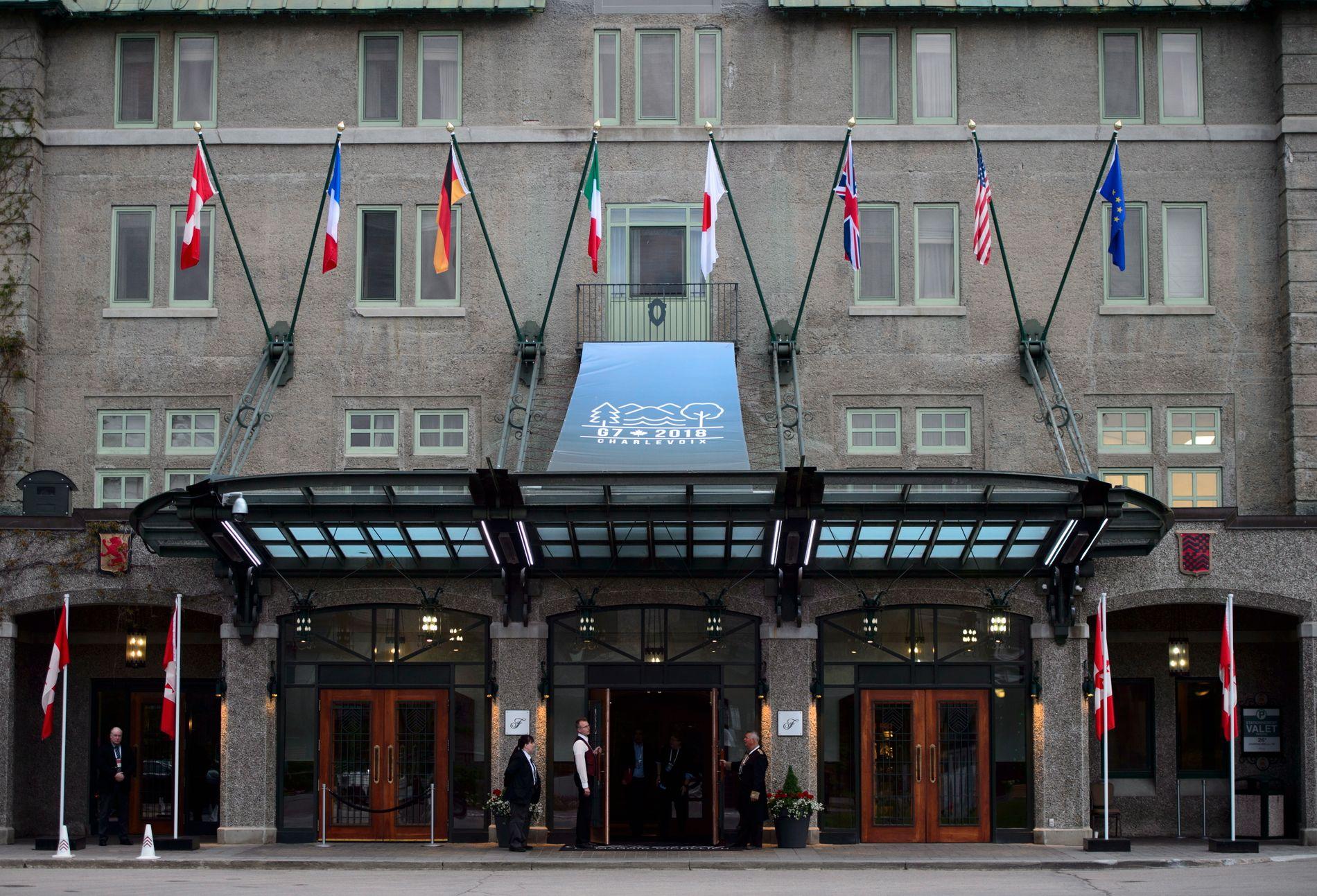 MØTESTED: Fairmont Le Manoir Richelieu, er det historiske hotellet i byen La Malbaie, som skal huse G7-møtet.