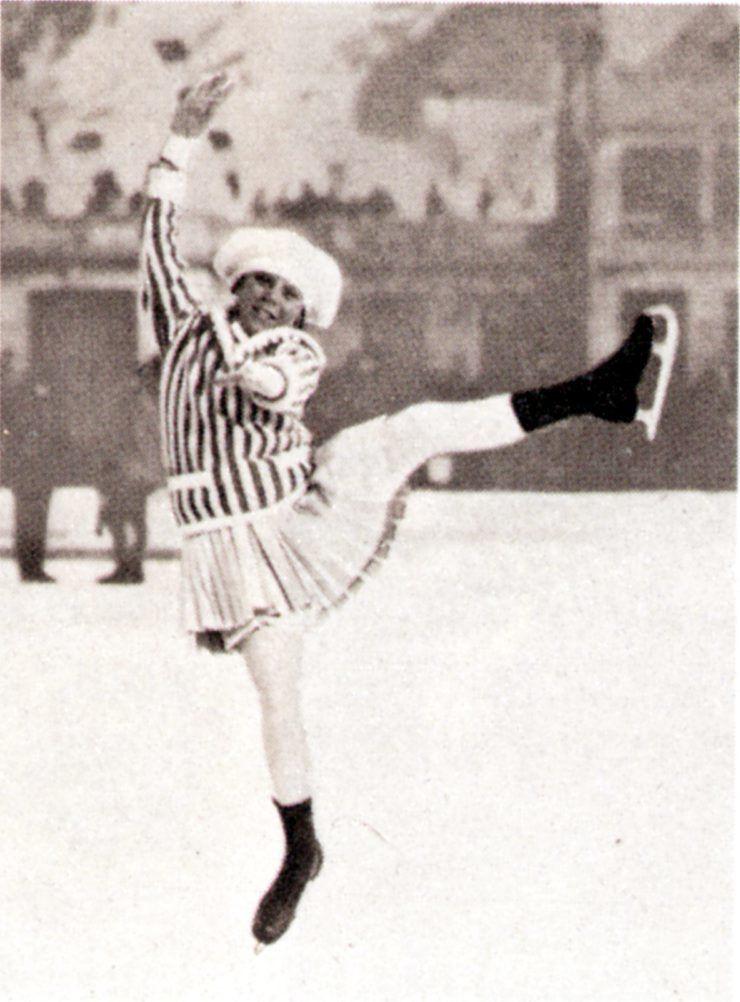 FØRSTE OL: Sonja Henie var 11 år da hun endte på åttendeplass i de første olympiske vinterleker i 1924 i Chamonix. Hun var 14 da hun vant sitt første VM.