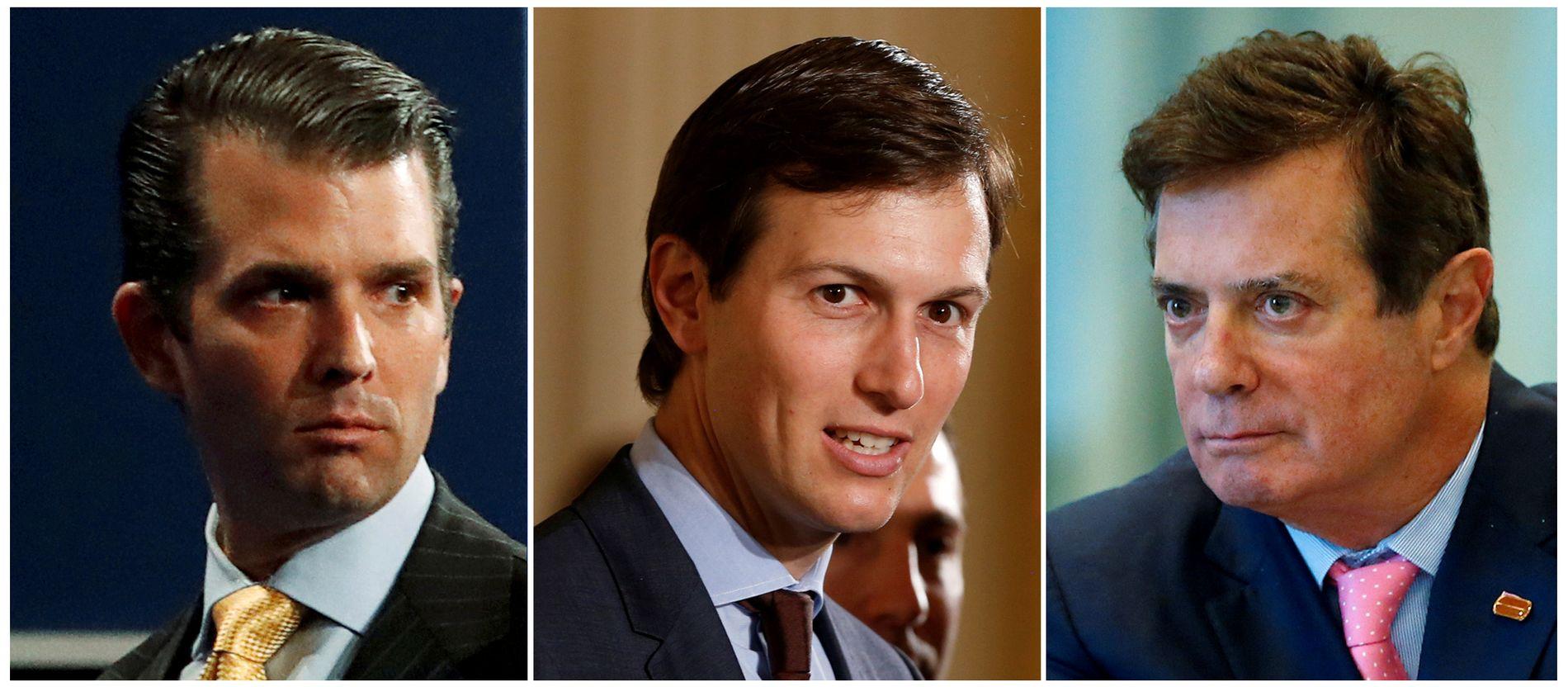 I RUSSLAND-MØTE: Donald Trump Jr., Jared Kushner og Paul Manafort.