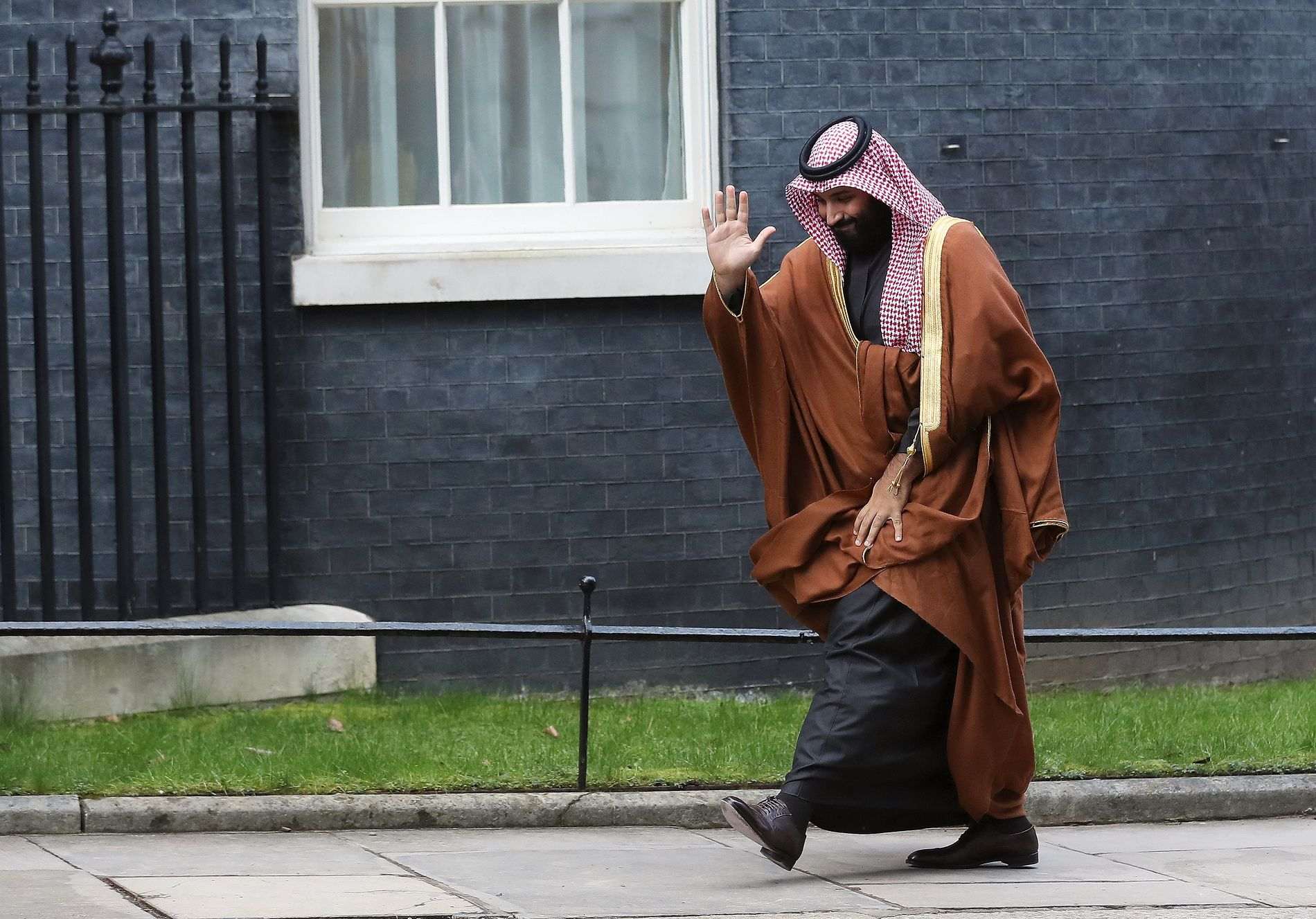 PÅ TUR: Kronprins Mohammad bin Salman av Saudi Arabia var i London tidligere denne måneden for å møte den britiske statsministeren.