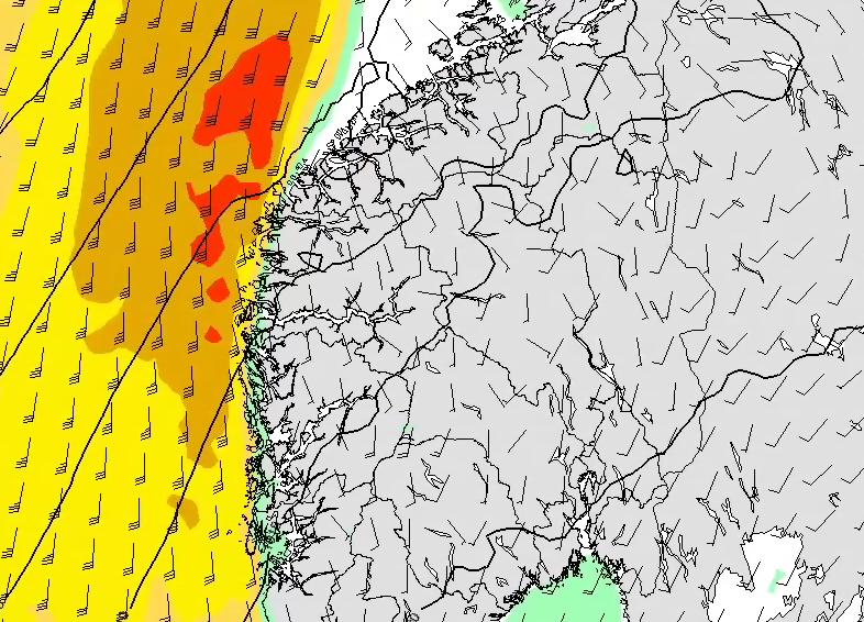 VINDFULL HELG: Den kraftige nedbøren fra orkanresten «Oscar» uteblir. Men det blir sterk kuling og liten storm på kysten.
