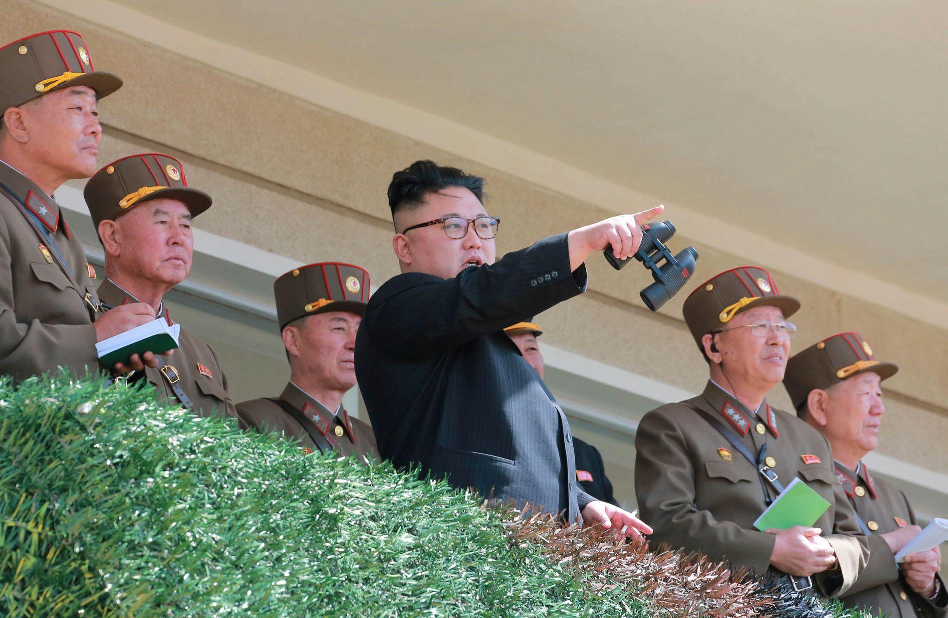 FRYKTER KRIG: Faren for full krig mellom Nord-Korea, Sør-Korea og USA har økt den siste tiden. Forskningsprofessor Stein Tønnesson ved PRIO frykter kolossale tap av menneskeliv. Bildet viser Nord-Koreas diktator Kim Jong-un.