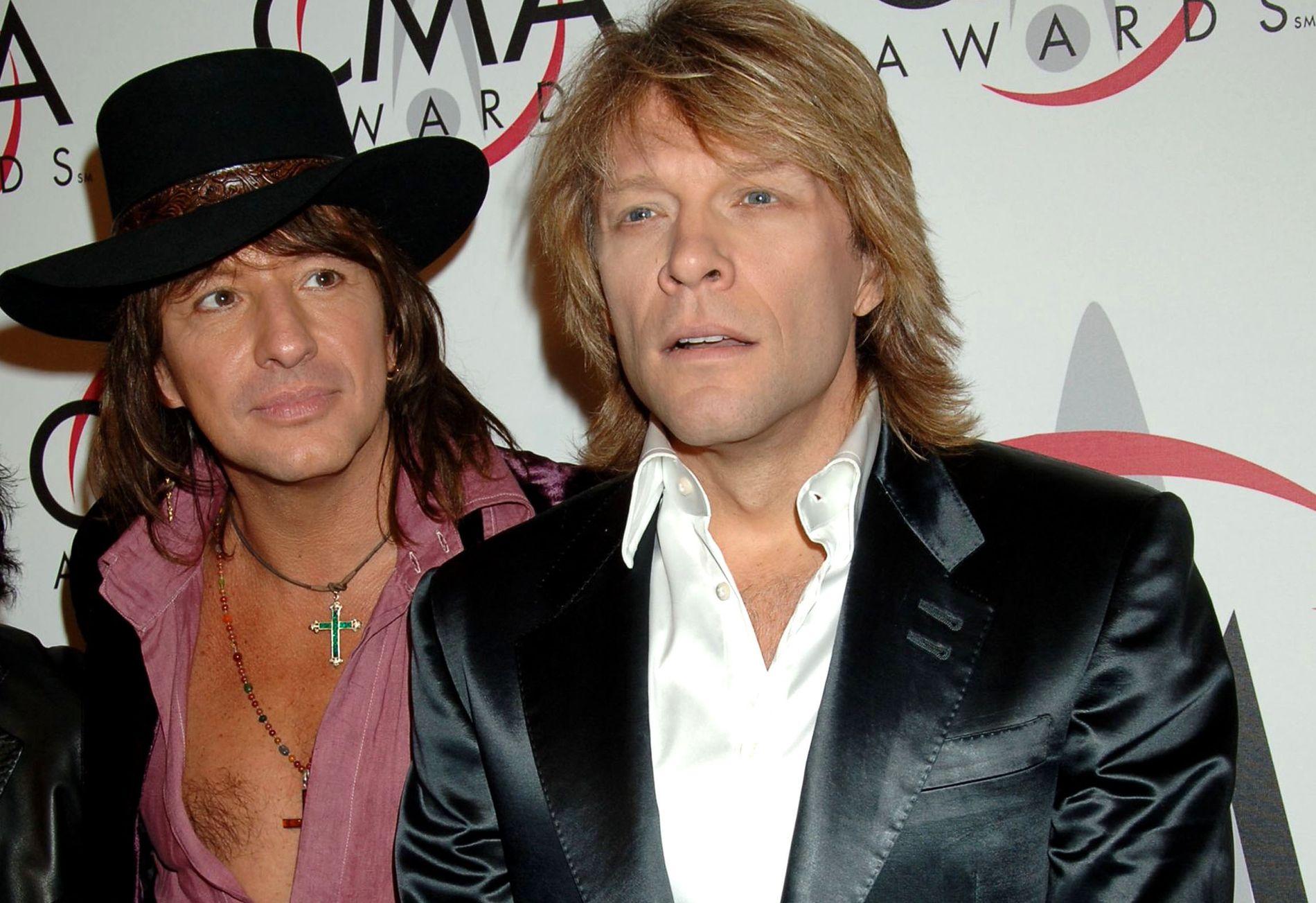 GLADDAGENE: Richie Samboar og Jon Bon Jovi sammen mens førstnevnte fortsatt spilte i Bon Jovi.