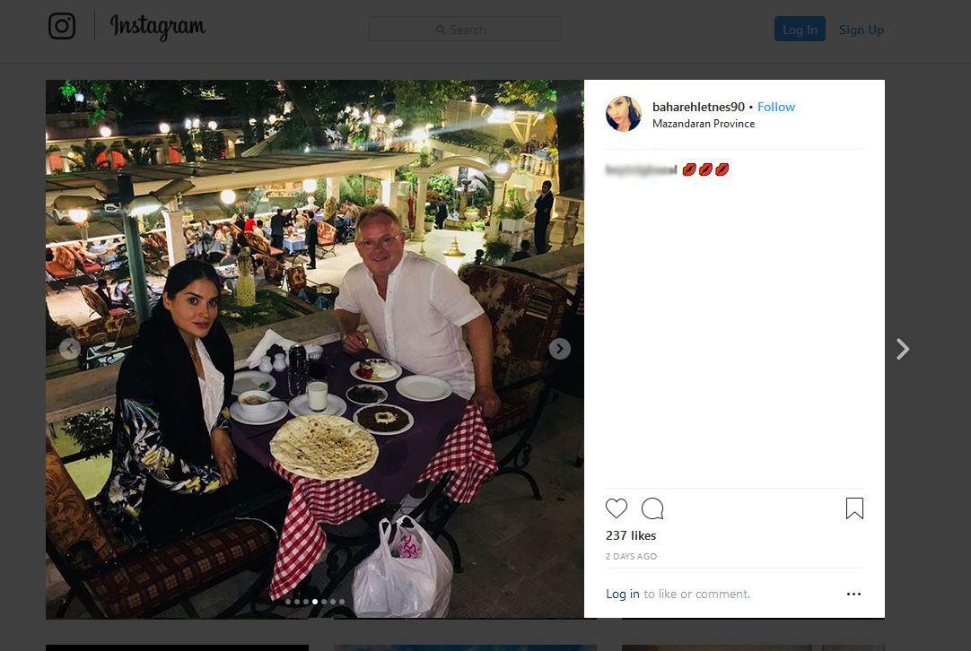 I IRAN: Bahareh Letnes (28) la denne uken ut flere bilder av seg selv og Per Sandberg på ferie i Iran.