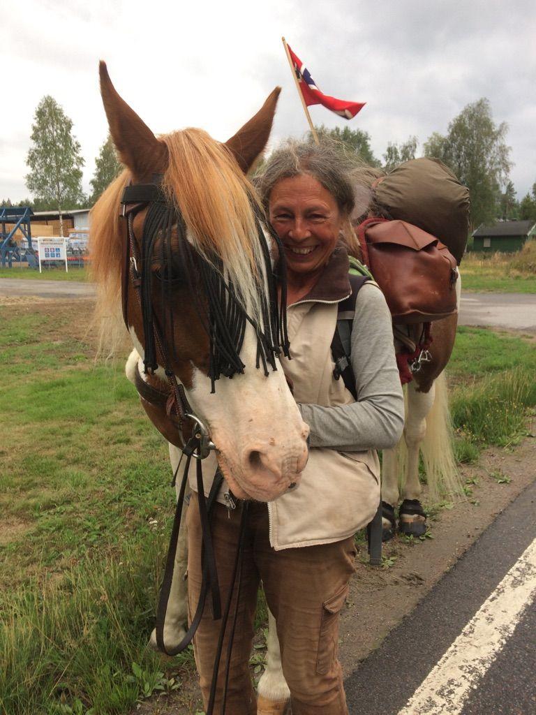 FREMME: Greta og Bento nådde slektens gårdsbruk, Haugbråten, 22. august i år.
