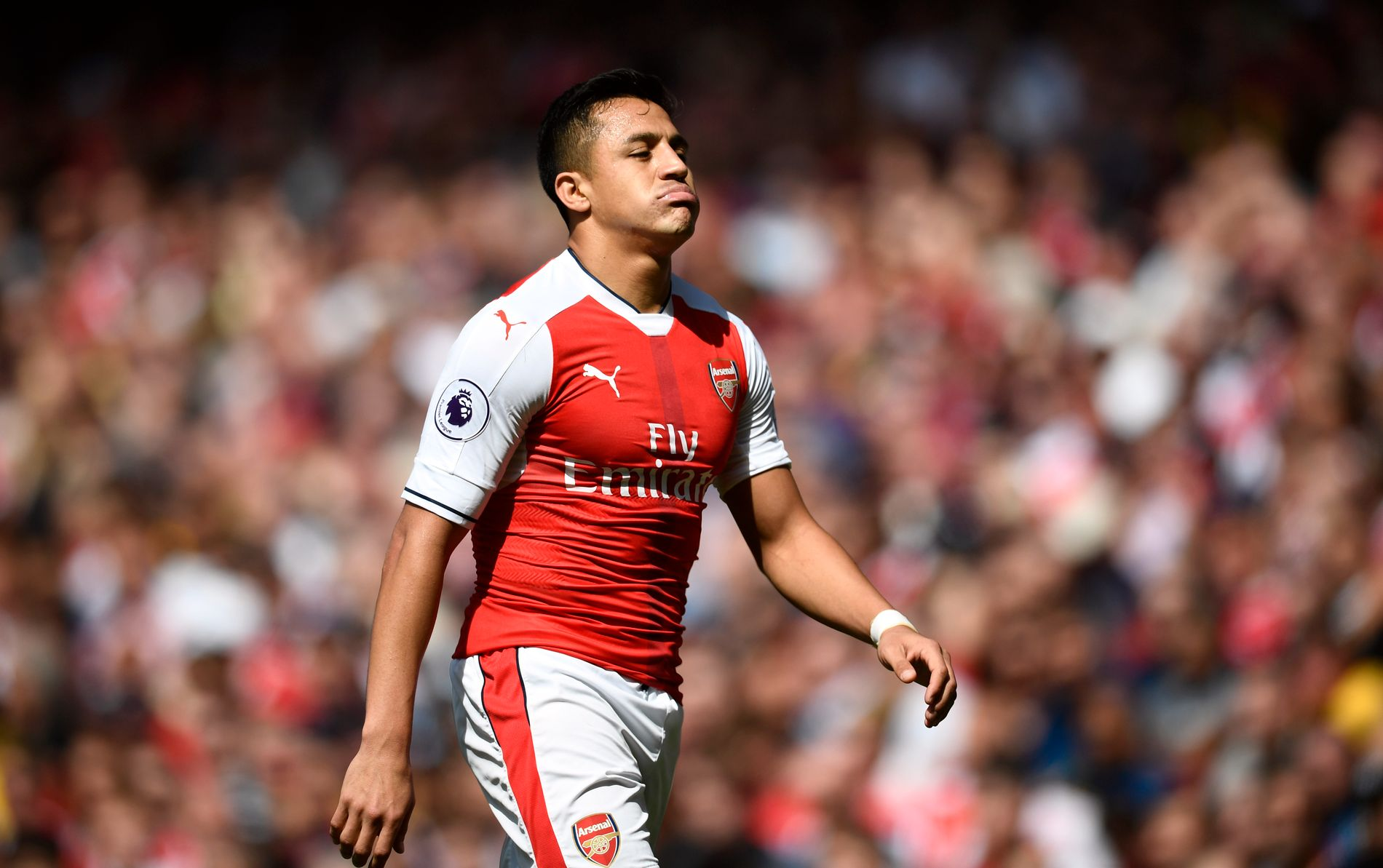PÅ VEI BORT: Alexis Sanchez skal ha bestemt seg for at Arsenal-karrieren er over.