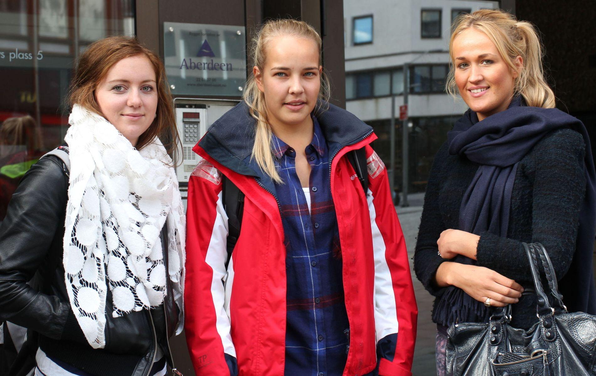 Uten avgift: Studenter kan motta penger av foreldre og besteforeldre uten at det påløper arveavgift. Jusstudentene Kjersti Sandem (22), Frida Vatn Sørlie (22) og Fanny Paus (22) har ikke tenkt på at dette gjelder dem.