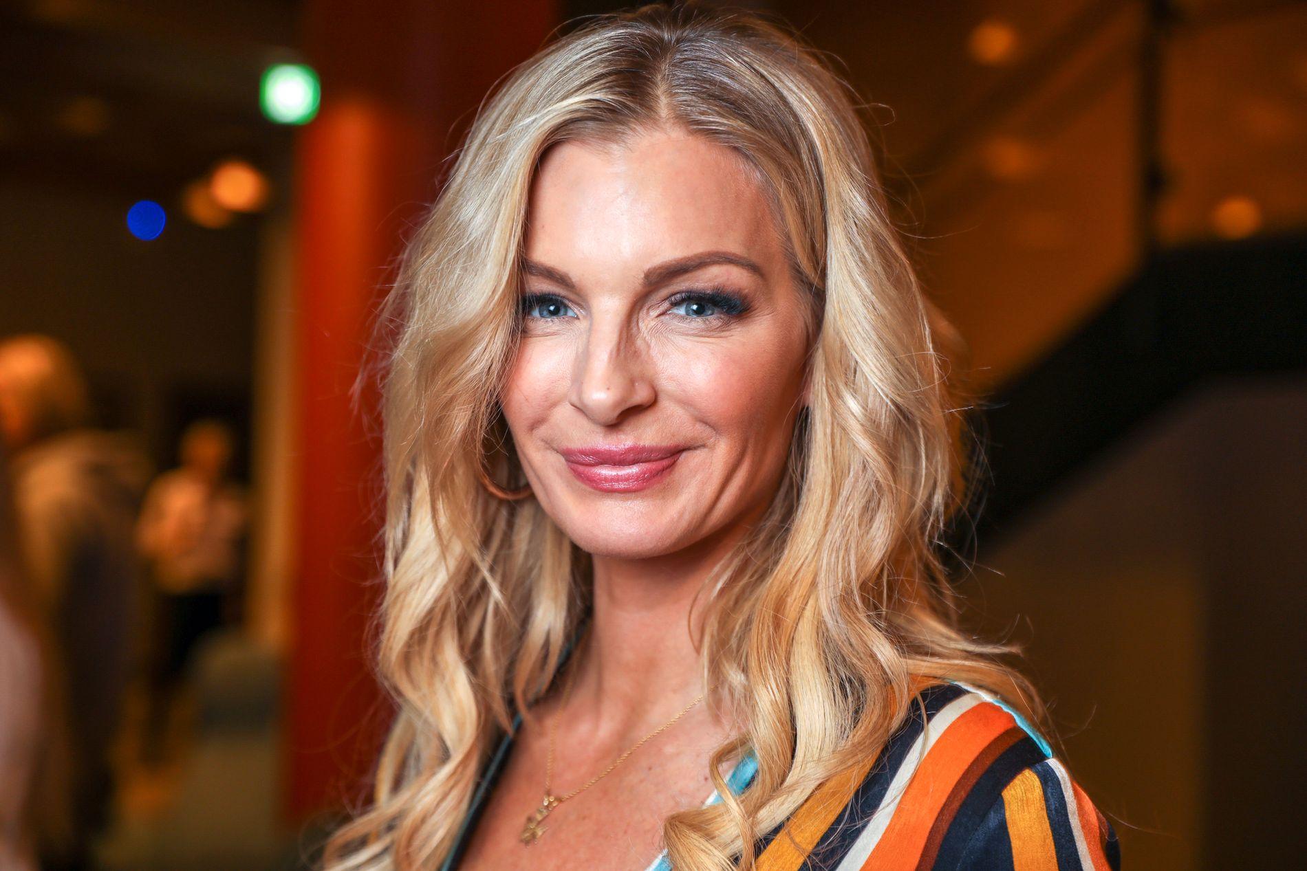 TV-AKTUELL: Kathrine Sørland, her på onsdagens pressemøte for «Farmen kjendis».