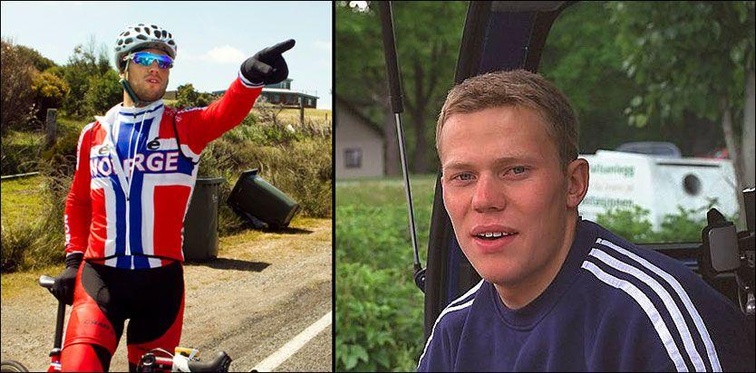 TO BILDER, SAMME MANN: Til venstre er Thor Hushovd på plass i Australia foran helgens VM. Til høyre er 1998-utgaven av samme person. Foto: Scanpix/VG