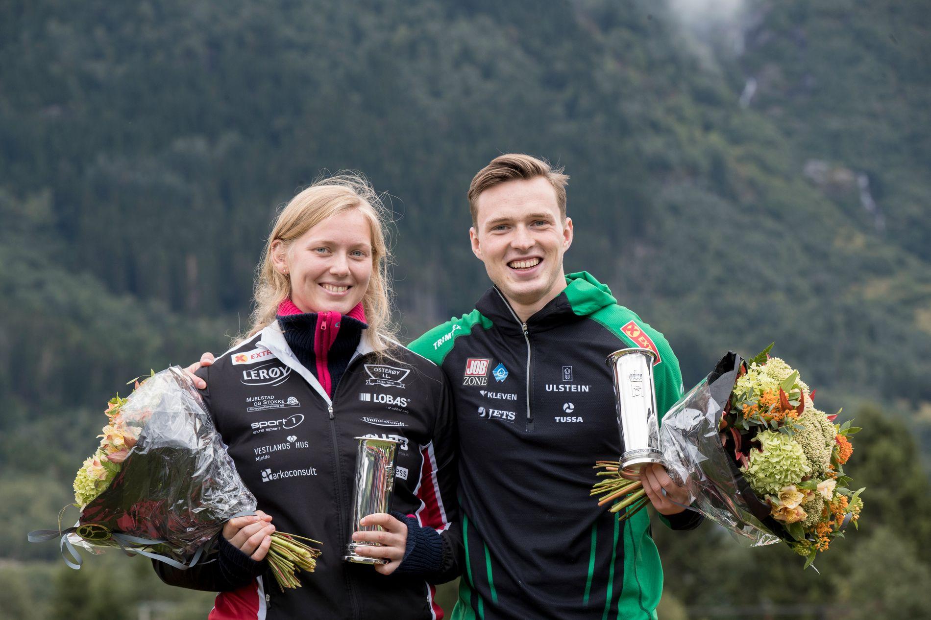 I SAMME FINALE: For to uker siden ble Sigrid Borge (22) tildelt kongepokalen sammen med Karsten Warholm (22) etter NM i Byrkjelo. Torsdag kveld jakter begge på førstepremien 418.000 kroner i Diamond League-finalen i Zürich.