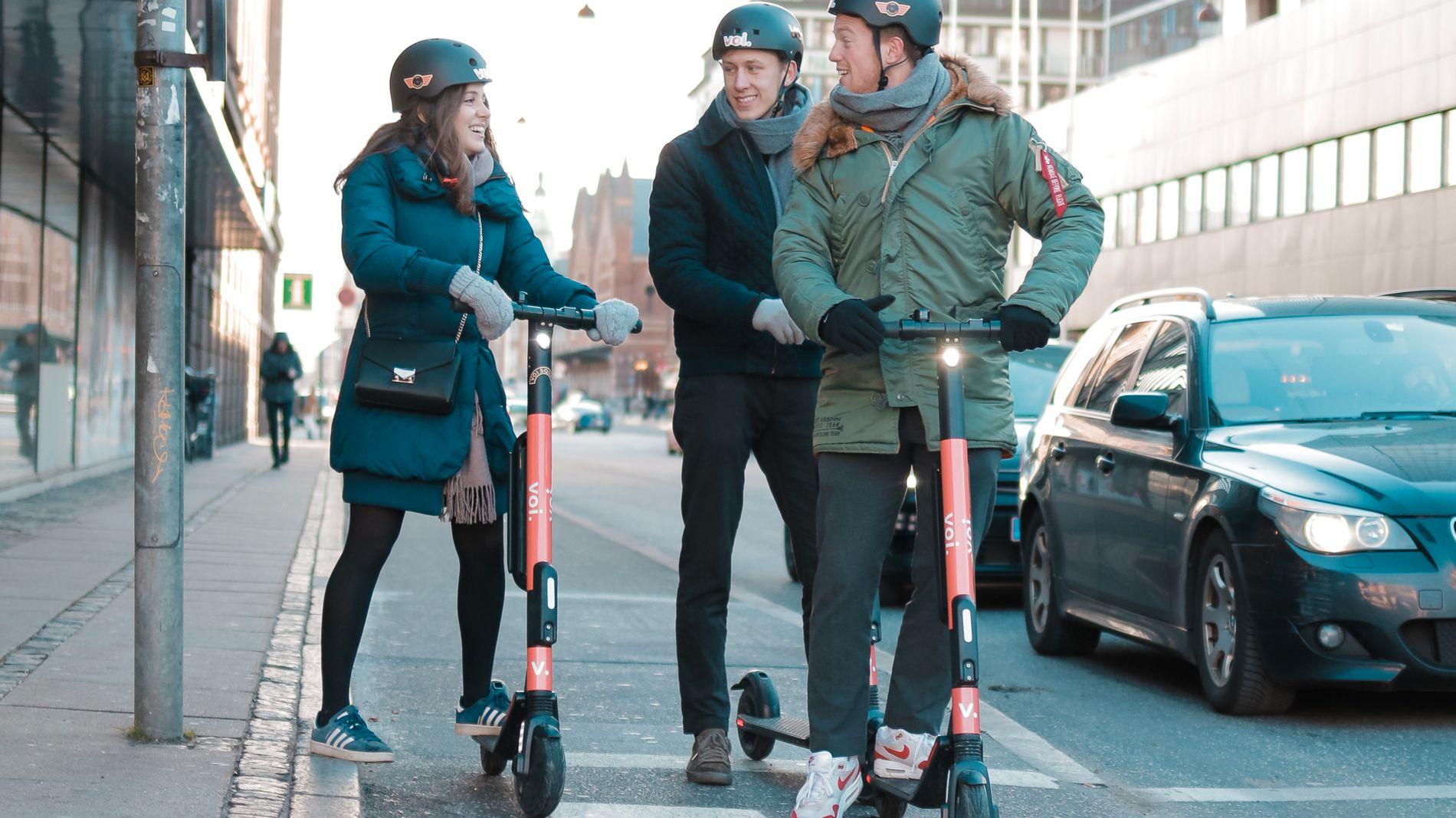 LANSERER SNART: Slike elektriske sparkesykler vil bli å se i bybildet i Oslo så snart snøen smelter.